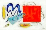 Obrazy, obrazy do bytu  - ČERVENÁ a AUTOMOBIL